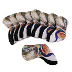 9pcs/pack Golf Head Safe Covers Golf Iron Head Protection Dirtproof Durable