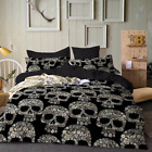 3D Skeleton Skull Bedding Set Comforter Duvet Cover Quilt Cover Pillowcase  image