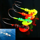 Lead Round Jig Head Fishing Lures Baits Hook Fish Tackle 5g/10g/14g*~* SP