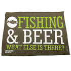 Fishing Funny Microfiber Hand Towel - And Beer What Else Is There
