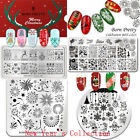 BORN PRETTY Christmas Nail Art Stamping Plates New Year Theme  Template
