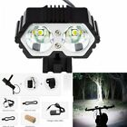 4000LM 2 X CREE XM-L T6 LED Bicycle Headlight Outdoor Cycling Camoing Flashlight