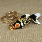 Vintage Enamel Chinese Cloisonne Gold Fish Articulated Gold Filigree Detailed