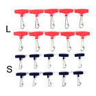 10PCS Zip Slider High-strength Fishing Line Sinker Slider Slides Hook Snap~@
