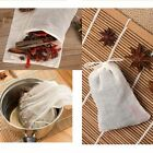 100Pcs Cotton Empty Draw String Teabags Herb Tea Bag Pouch Loose RRZ