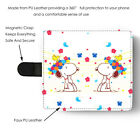 Celebration Flower Snoopy PU Leather Full Print Flip Wallet Phone Case Cover NEW