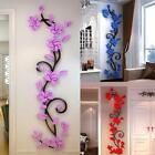 3d Vine Flower Wall Sticker Removable Acrylic Wall Decal Living Room Decoration