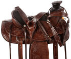 Ranch Saddle Western Wade Tree Pleasure Trail Roping Premium Leather Horse Tack