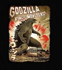 VINTAGE GODZILLA KING OF THE MONSTERS POSTER MEN'S T-SHIRT *FULL FRONT*