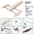 RC Outrigger Shrimp Boat Wooden 495mm Sponson Race Boat Kit to Build