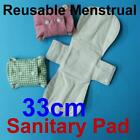 Bamboo Organic Reusable Cloth Menstrual Sanitary Pads Cotton Towel Health 33cm