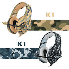 Camo Gaming Headset PS4 Xbox One PC Headphone 3.5mm Stereo Sound Earphone w Mic