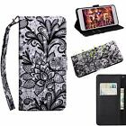 Pattern Leather Card Wallet Stand Case Cover For Motorola Moto G6 Z3 E4/E5 Plus
