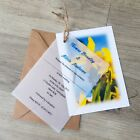 Personalised Welsh Daffodil Vellum Wedding Invitations with Envelopes and twine