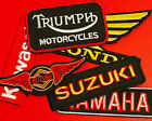 Motorcycle Brand Patches - EMBROIDERED - dirtbike ratbike brat metric scrambler $4.35 AUD on eBay