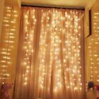 300 600 LED String Fairy Curtain Lights Waterfall Lamp Christmas Wedding Party