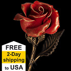 Kyпить 6th Anniversary Gift - Hand Forged Red Iron Rose - Wrought Iron Flower на еВаy.соm