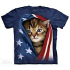 Patriotic Kitten T-Shirt by The Mountain. Cats Pets Sizes S-5XL NEW image