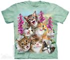 Kittens Selfie T-Shirt by The Mountain. Pet Animals Cats Sizes S-5X NEW image