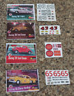 1/24 Monogram FORD COUPE TBIRD CHEVY  slot car decal sheets 4 to chose from