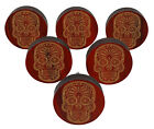 IBA Skull Engraved 10 Pc Furniture Wood Scallop Knobs Rustic Drawer Pull-TER14D