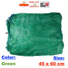 200x GREEN 45x60cm NET SACK BAGS MESH FRUITS VEGETABLES WOOD CARROT POTATO CHEAP