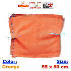 25x - 55x80cm ORANGE NET SACK BAGS MESH FRUITS VEGETABLES WOOD CARROT POTAT FAST