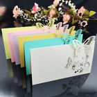 Внешний вид - 20pcs Name Place Cards Wedding Favor Guest Table Place Cards Laser Cut Butterfly