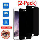 2-Pack For iPhone 8 8 Plus Privacy Anti-Spy Tempered Glass Screen Protector Film