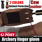 Archery Protect Glove 3 Fingers Pull Bow arrow Leather Shooting Gloves T4