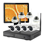 Indoor Outdoor Security Camera Phone System Wireless with Hard Drive& Monitor