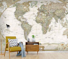 3D Black World Map 23 Wall Paper Exclusive MXY Wallpaper Mural Decal Indoor