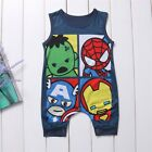 US Newborn Baby Boy Cartoon Romper Bodysuit Jumpsuit Superhero Clothes Outfits