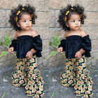 Kyпить US Toddler Kids Baby Girls Crop Tops Sunflower Pants 2Pcs Summer Outfits Clothes на еВаy.соm