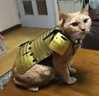SAMURAI AGE Japanese YOROI Armor for Pets 3 Size S M  L Hand Made Japan Gold
