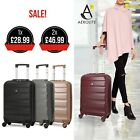 Aerolite Léger ABS COQUE Rigide Spinner 4 Roues Bagage à Main Cabine Valise
