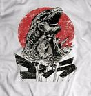 GODZILLA VINTAGE JAPANESE T-SHIRT FULL FRONT DTG DESIGN * MANY SIZES* image