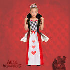 Girls Alice in Wonderland Fancy Dress - Queen Of Hearts World Book Day Costume