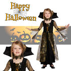Girls Deluxe Spiderella Teen Vampire Witch Kids Halloween Fancy Dress Costume