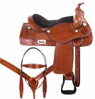 Barrel Saddle Used 15 16 17 18 Cowboy Trail Riding Leather Western Horse Tack
