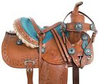 Used Youth Saddle 10 12 13 Trail Horse Pony Leather Barrel Show Western Tack Set