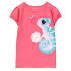Gymboree toddler girls coral chameleon shirt from June 2017 unreleased line