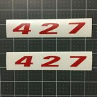 Pair of 427 Vinyl DECALS Badge Hood Fender Door Tailgate Emblem