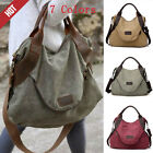 Women Handbag Shoulder Cross Body Large Pocket Casual Canvas Large Capacity Bags
