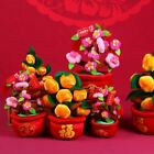 Plush Orange Tree Bless Peach Blossom Tree Flower Potted Chinese New year Luck