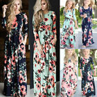 Внешний вид - Mother Daughter Family Matching Dress Mommy and Me Floral Maxi Dresses Outfits