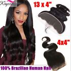 Body Wave Lace Frontal Closure Virgin Remy Hair Brazilian Straight 360 Frontal
