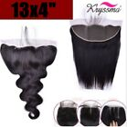 """13x4"""" Body Wave Straight Lace Frontal Virgin Remy Lace Closures for Black Women"""