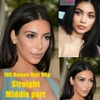 Brazilian Remy Human Hair Lace Front Wig Yaki Straight Full Lace Wigs for Women