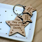 PERSONALISED FATHERS DAY GIFT GIFTS FOR HIM HER KEYRING MUMMY MUM DADDY DAD NAN